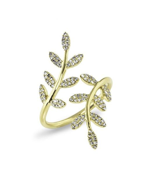 Anne Sisteron | Metallic 14kt Yellow Gold Diamond Ivy Ring | Lyst