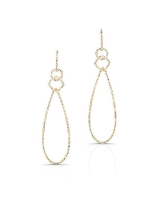 Anne Sisteron | Metallic 14kt Yellow Gold Diamond Open Pear Link Drop Earrings | Lyst