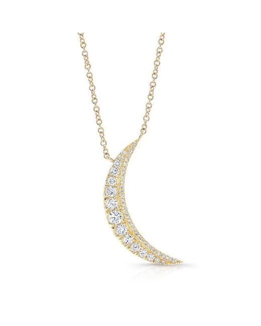 Anne Sisteron | Metallic 14kt Yellow Gold Diamond Luna Necklace | Lyst