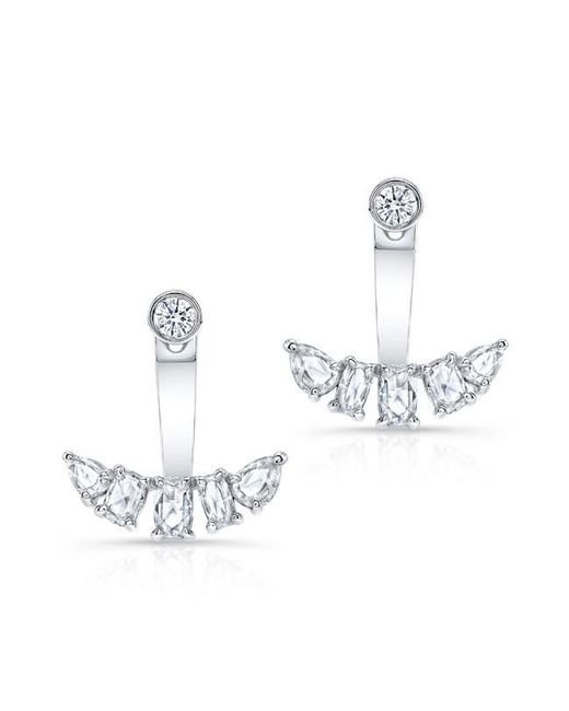 Anne Sisteron | Metallic 14kt White Gold Diamond Bijou Floating Earrings | Lyst