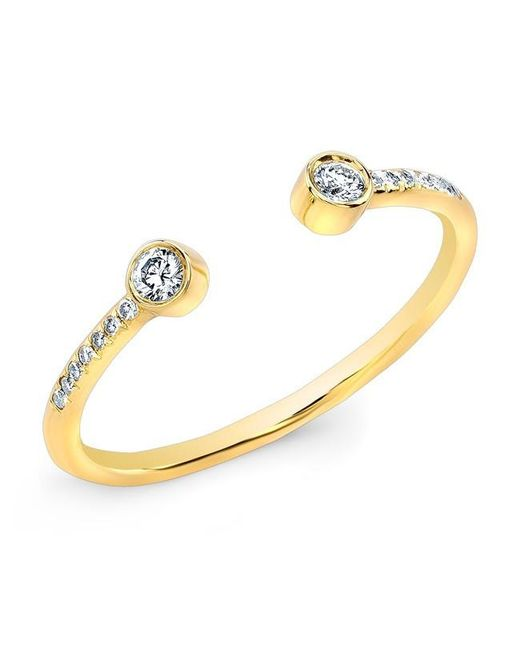 Anne Sisteron | Metallic 14kt Yellow Gold Diamond Circuit Ring | Lyst