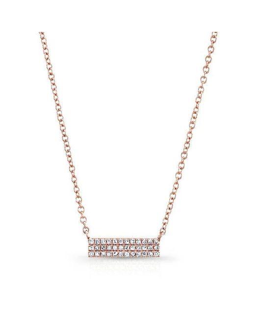 Anne Sisteron | Multicolor 14kt Rose Gold Diamond Starburst Necklace | Lyst