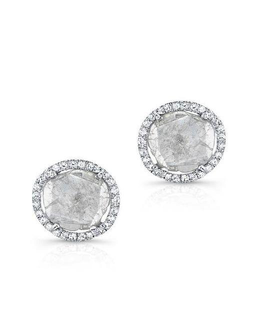 Anne Sisteron | Multicolor 14kt White Gold Diamond Slice Stud Earrings | Lyst