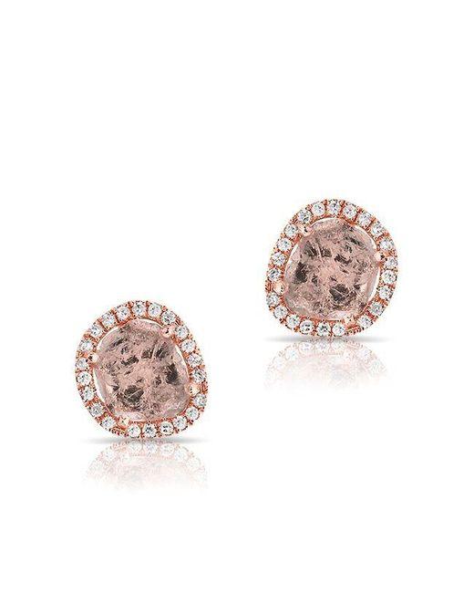 Anne Sisteron   Multicolor 14kt Rose Gold Diamond Slice Stud Earrings   Lyst