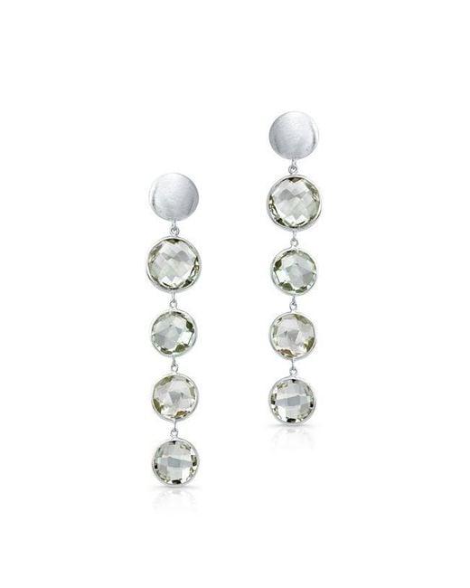 Anne Sisteron | 14kt White Gold Green Amethyst Quadruple Drop Earrings | Lyst