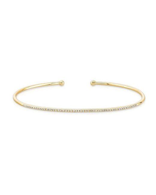 Anne Sisteron | Metallic 14kt Yellow Gold Diamond Cuff | Lyst