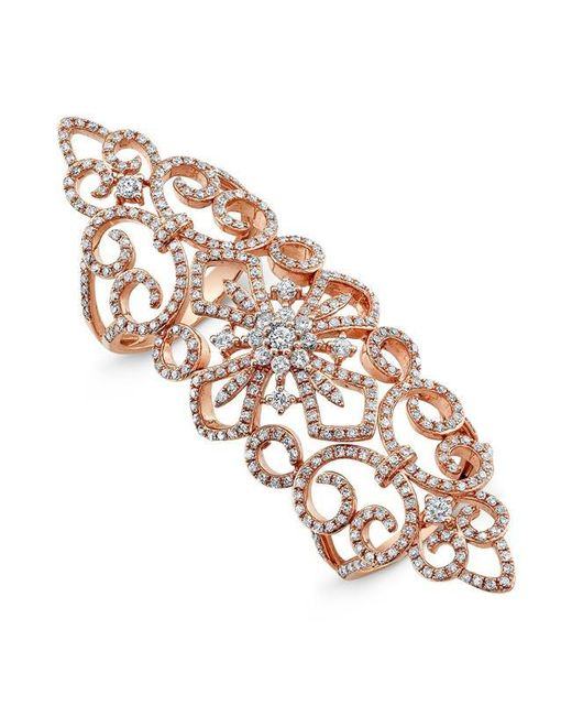 Anne Sisteron | Metallic 14kt Rose Gold Diamond Bourgeois Ring | Lyst