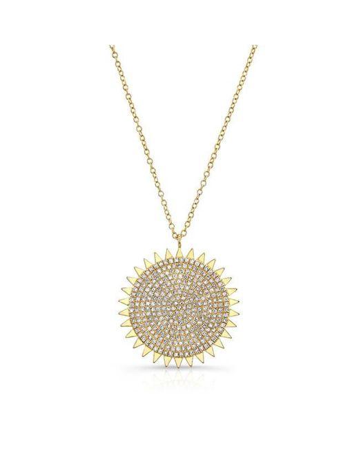 Anne Sisteron | Metallic 14kt Yellow Gold Diamond Sun Necklace | Lyst