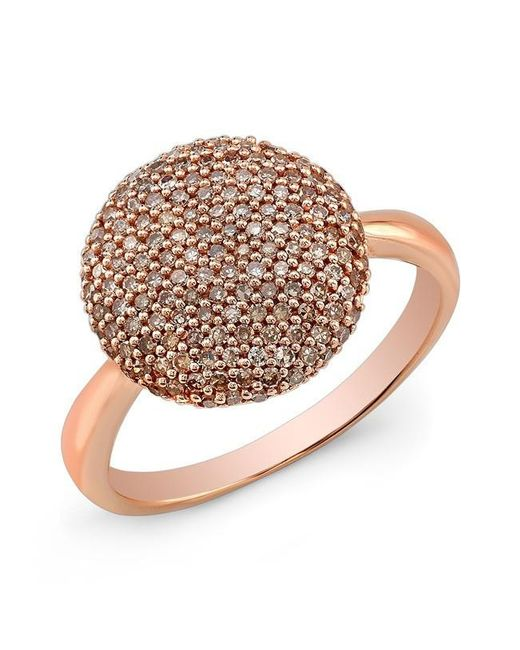 Anne Sisteron | Metallic 14kt Rose Gold Diamond Bouton Ring | Lyst