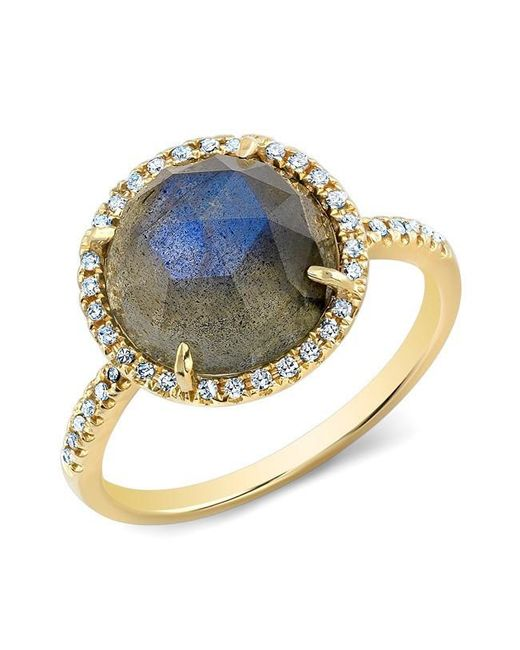 Anne Sisteron | Blue 14kt Yellow Gold Labradorite Diamond Cocktail Ring | Lyst