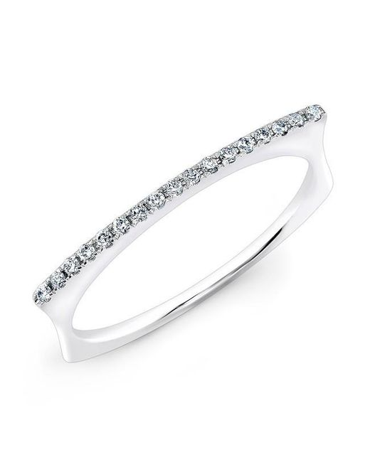 Anne Sisteron | Metallic 14kt White Gold Diamond Bar Dome Ring | Lyst