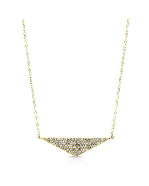 Anne Sisteron | Metallic 14kt Yellow Gold Diamond Golden Triangle Necklace | Lyst