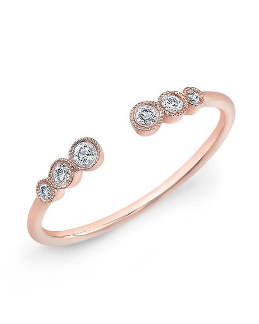 Anne Sisteron | Multicolor 14kt Rose Gold White Sapphire Heart Solitaire Diamond Ring | Lyst