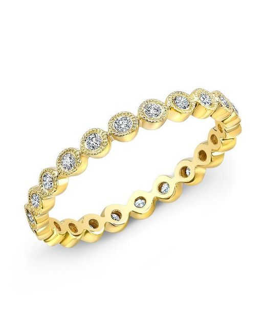 Anne Sisteron | Metallic 14kt Yellow Gold Bezel Set Diamond Ring | Lyst