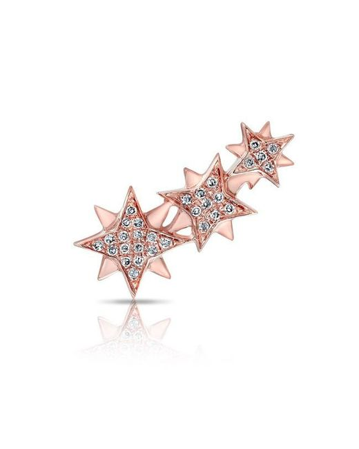 Anne Sisteron | Pink 14kt Rose Gold Diamond Stars Ear Climber | Lyst