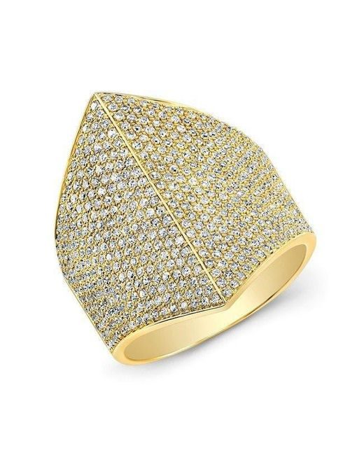 Anne Sisteron | Metallic 14kt Yellow Gold Diamond Helmet Ring | Lyst