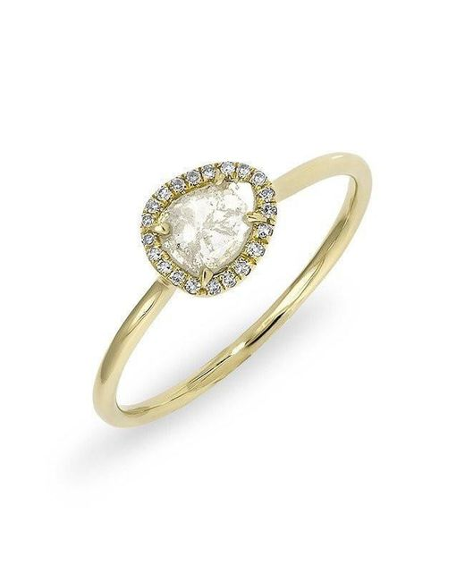 Anne Sisteron - Metallic 14kt Yellow Gold Diamond Slice Solace Ring - Lyst