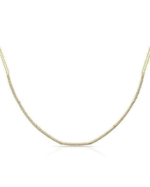 Anne Sisteron - Metallic 14kt Yellow Gold Diamond Abby Choker Necklace - Lyst