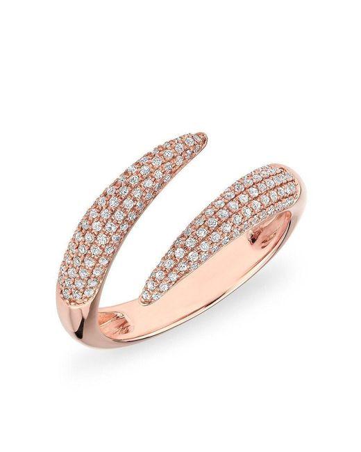 Anne Sisteron - Multicolor 14kt White Gold Diamond Horn Embrace Ring - Lyst