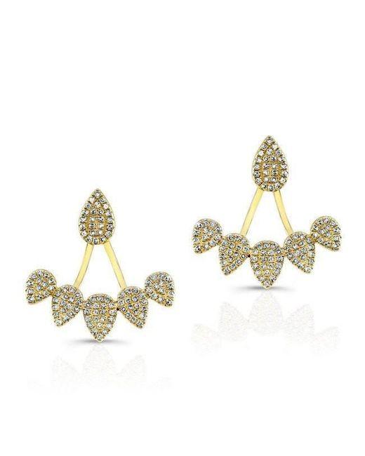 Anne Sisteron | Metallic 14kt Yellow Gold Diamond Tiara Floating Earrings | Lyst