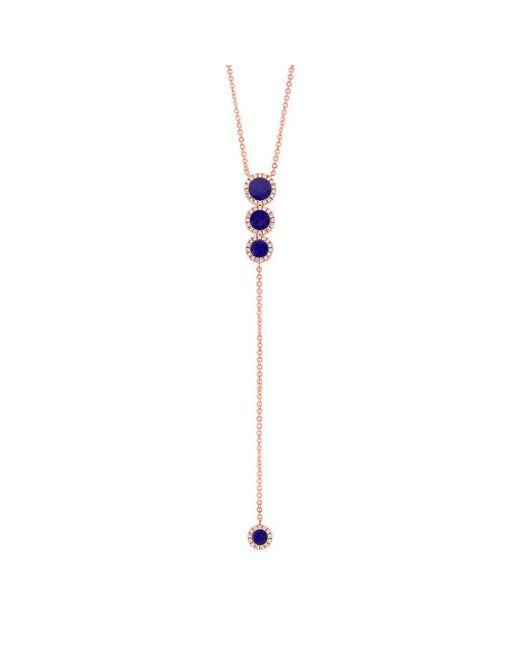 Anne Sisteron - Metallic 14kt Rose Gold Diamond Lapis Flirt Lariat Necklace - Lyst