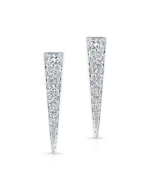Anne Sisteron - Multicolor 14kt White Gold Diamond Dagger Earring - Lyst