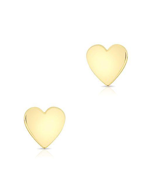 Anne Sisteron - Multicolor 14kt Solid Yellow Gold Heart Stud Earrings - Lyst