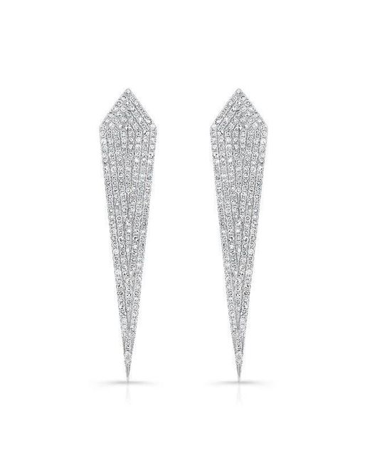 Anne Sisteron - Multicolor 14kt White Gold Diamond Spear Earrings - Lyst