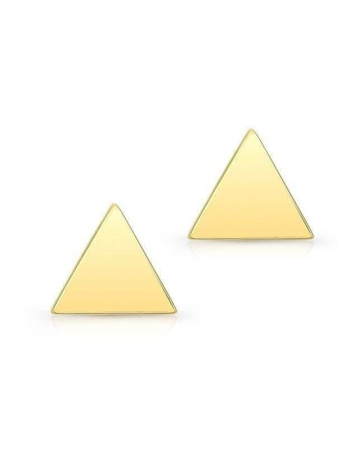 Anne Sisteron - 14kt Yellow Gold Triangle Stud Earrings - Lyst