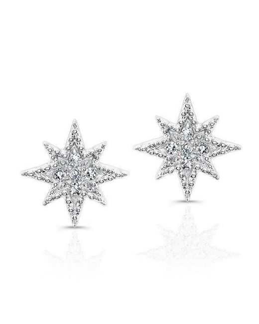 Anne Sisteron - Metallic 14kt White Gold Diamond North Star Stud Earrings - Lyst
