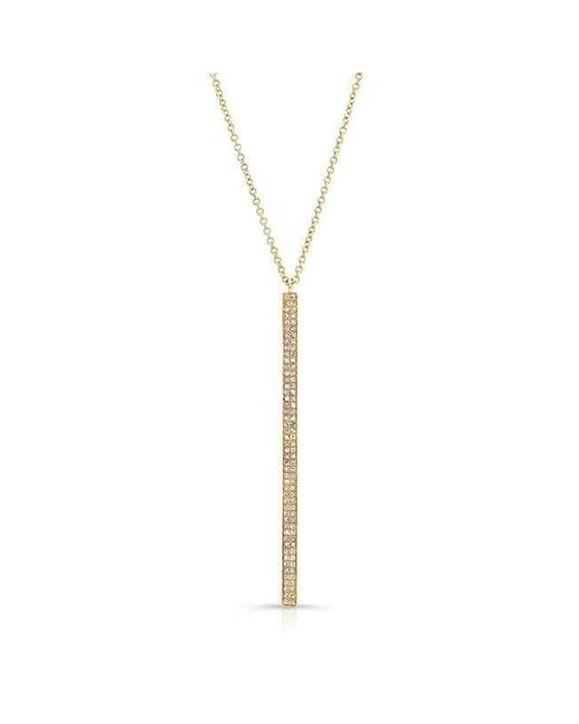 Anne Sisteron - Metallic 14kt Yellow Gold Diamond Beam Necklace - Lyst