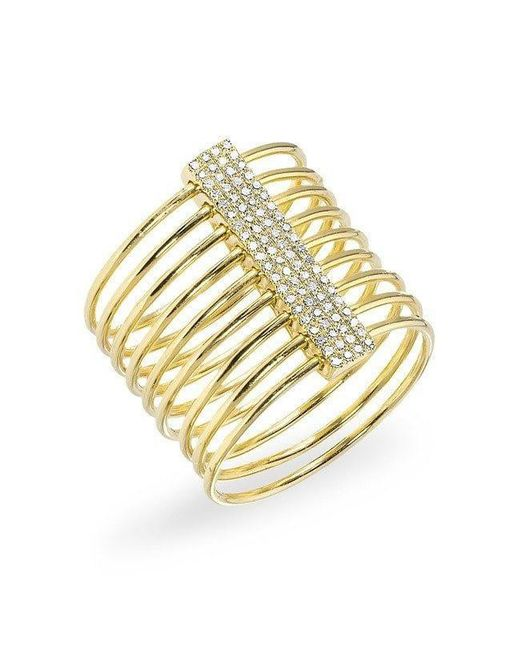 Anne Sisteron | Metallic 14kt Yellow Gold Diamond Slink Ring | Lyst