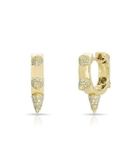 Anne Sisteron | Metallic 14kt Yellow Gold Diamond Punk Rock Huggie Earrings | Lyst