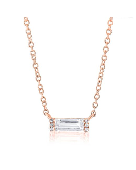 Anne Sisteron - Multicolor 14kt Rose Gold Diamond White Topaz Brick Necklace - Lyst