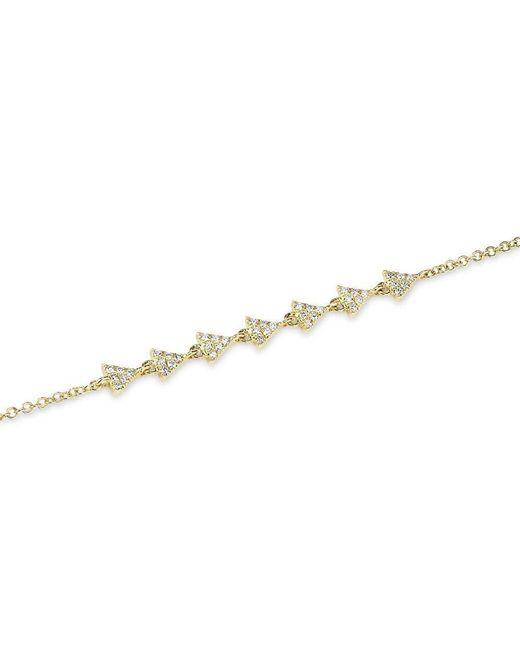 Anne Sisteron | Metallic 14kt Yellow Gold Diamond Triangle Totem Bracelet | Lyst