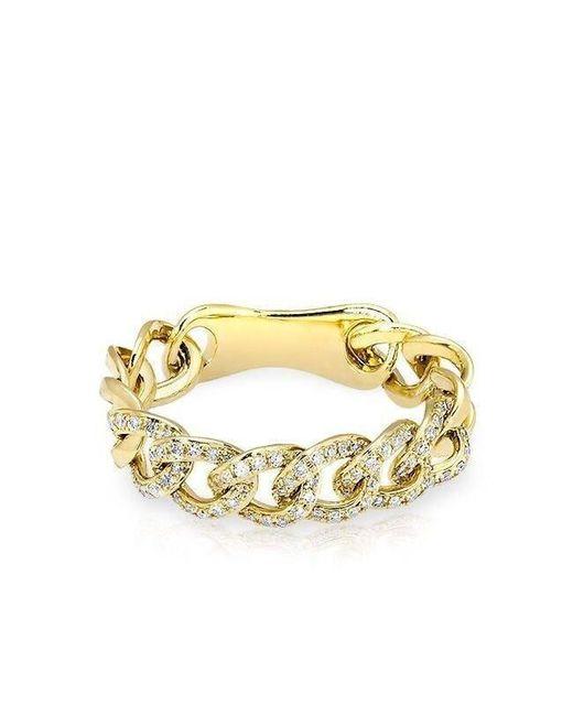 Anne Sisteron - Metallic 14kt Yellow Gold Diamond Chain Link Light Ring - Lyst