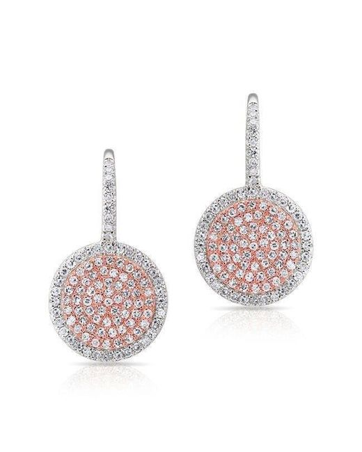 Anne Sisteron - Multicolor 14kt White Gold And Rose Gold Diamond Disc Earrings - Lyst