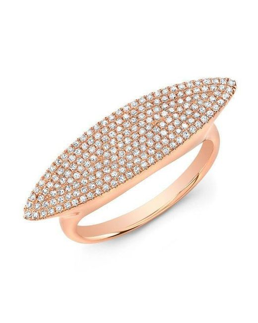 Anne Sisteron - Pink 14kt Rose Gold Diamond Capri Ring - Lyst