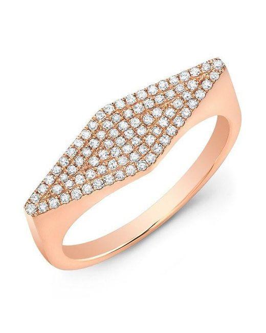 Anne Sisteron | Metallic 14kt Rose Gold Diamond Kite Ring | Lyst