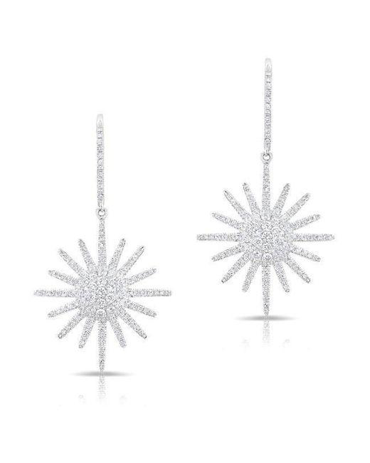 Anne Sisteron - Multicolor 14kt White Gold Diamond Aurora Sun Earrings - Lyst