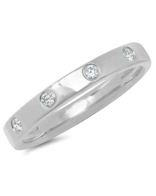 Anne Sisteron - Metallic 14kt White Gold Diamond Sparkle Band Ring - Lyst