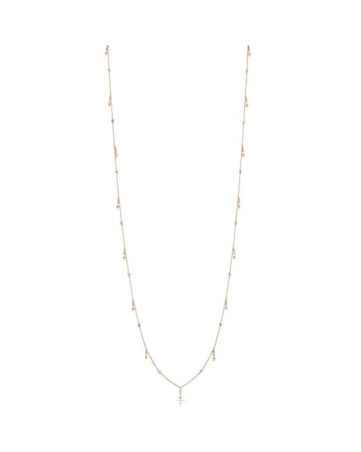 Anne Sisteron - Metallic 14kt Rose Gold Diamond Solitaire Drops Layering Necklace - Lyst