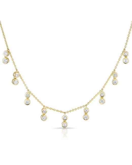 Anne Sisteron | Metallic 14kt Yellow Gold Diamond Bezel Drops Maisie Necklace | Lyst