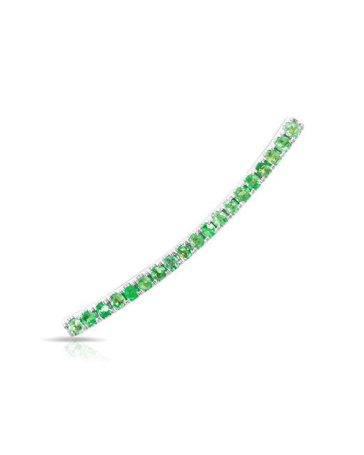 Anne Sisteron - Multicolor 14kt White Gold Emerald Crescent Ear Climber - Lyst