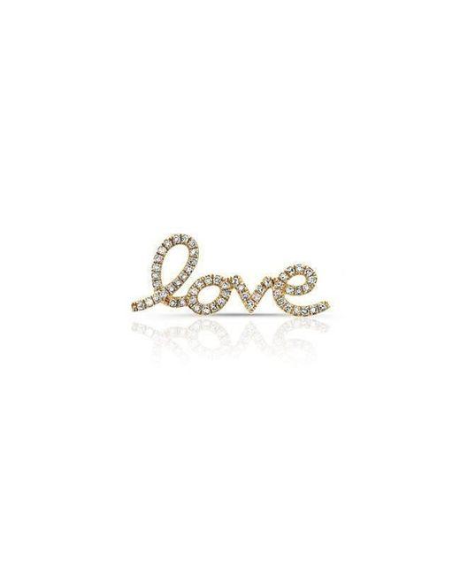 Anne Sisteron - Metallic 14kt Yellow Gold Diamond Love Ear Climber - Lyst