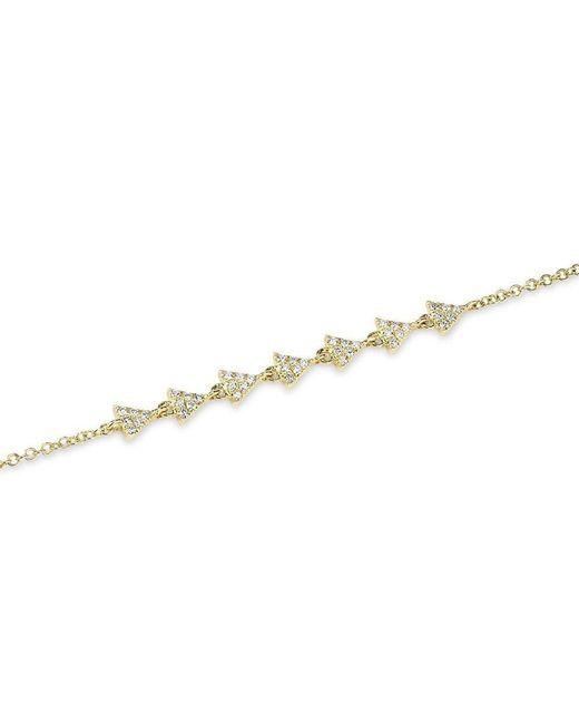 Anne Sisteron - Metallic 14kt Yellow Gold Diamond Triangle Totem Bracelet - Lyst