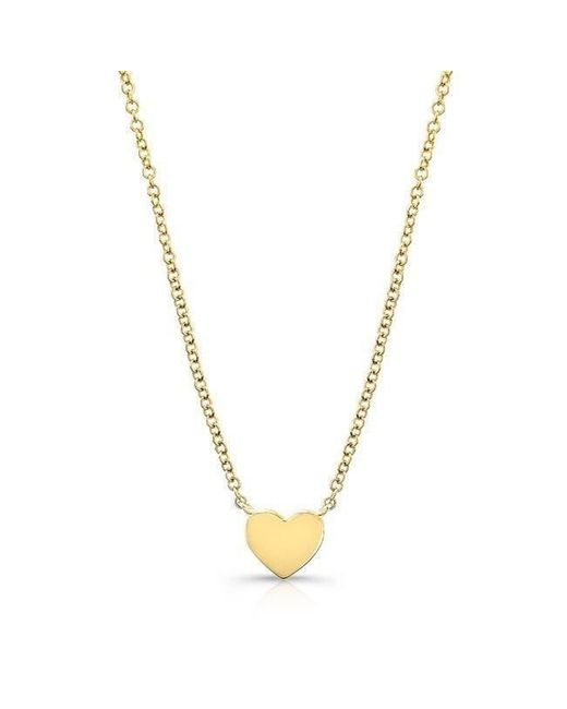 Anne Sisteron - Metallic 14kt Yellow Gold Heart Necklace - Lyst