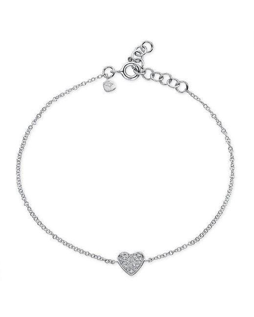 Anne Sisteron - Multicolor 14kt White Gold Diamond Heart Bracelet - Lyst