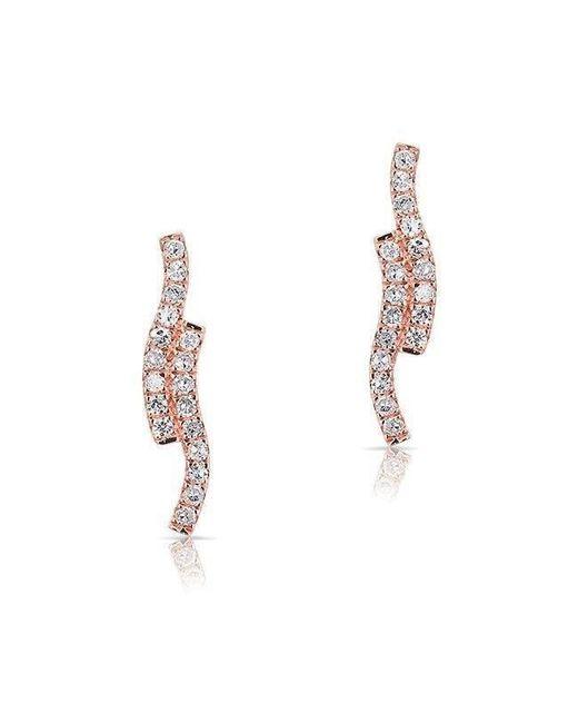 Anne Sisteron - Metallic 14kt Rose Gold Diamond Ripple Stud Earrings - Lyst