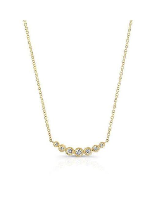 Anne Sisteron - Metallic 14kt Yellow Gold Bezel Set Diamond Hazel Necklace - Lyst
